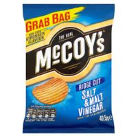 McCoys thick cut Crisps.  36 x 47.5g Salt & Malt Vinegar